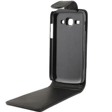 Verticale Flip zachte lederen hoesje voor Samsung Galaxy Ace 3 / S7272(zwart)