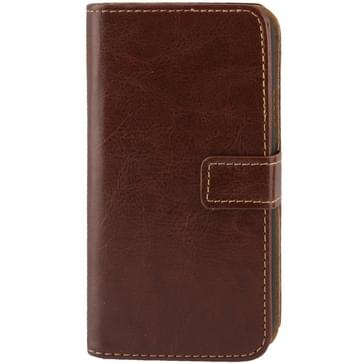 Fine Sheepskin Texture Flip Leather Case with Credit Card Slots & Holder for Galaxy S IV Active / i9295(Brown)