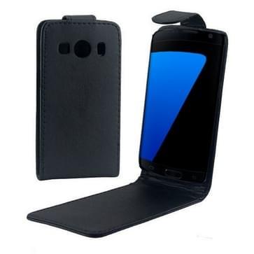 verticaal flip magnetische Snap lederen hoesje voor Samsung Galaxy Ace Style LTE / G357(zwart)
