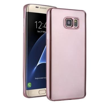 Samsung Galaxy S7 Edge / G935 zacht beschermend TPU back cover Hoesje (roze goudkleurig)