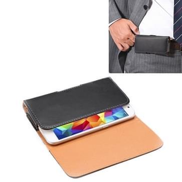 Crazy Horse structuur Vertical Flip lederen hoesje / Waist Bag met Back Splint voor Samsung Galaxy S5 / G900