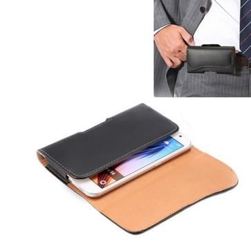Crazy Horse structuur Vertical Flip lederen hoesje / Waist Bag met Back Splint en Arch Design voor Samsung Galaxy S6 / G920