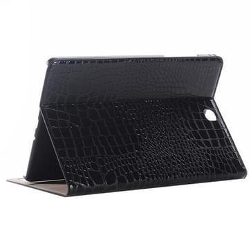 Samsung Galaxy Tab A 9.7 / T550 horizontaal Krokodil structuur PU leren Flip Hoesje met houder en opbergruimte voor pinpassen & geld (zwart)