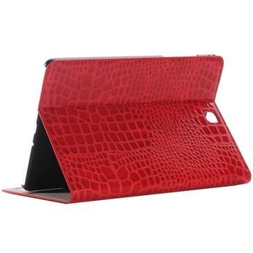 Samsung Galaxy Tab A 9.7 / T550 horizontaal Krokodil structuur PU leren Flip Hoesje met houder en opbergruimte voor pinpassen & geld (rood)