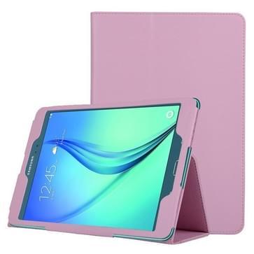 Samsung Galaxy Tab A 8.0 / T350 horizontaal Litchi structuur PU leren Flip Hoesje met tweevouws houder (roze)