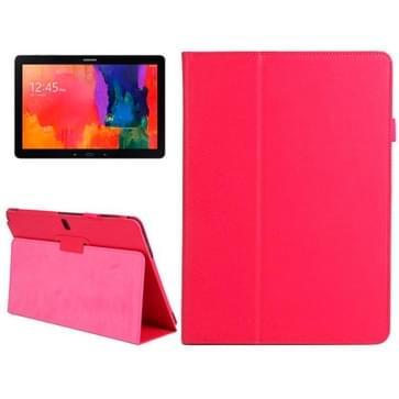 2-vouw Litchi structuur Flip lederen hoesje met houder voor Samsung Galaxy Note & Tab Pro 12.2 / P900 (rood)