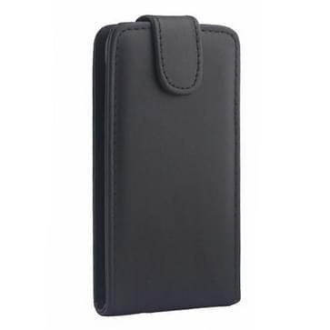 verticaal flip PU lederen hoesje voor Samsung Galaxy S5 mini(zwart)