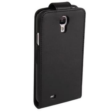 Pure Color Vertical Flip Leather Case with Credit Card Slot for Galaxy S IV / i9500(Black)