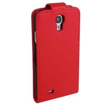 Pure Kleur Vertical Flip lederen hoesje met opbergruimte voor pinpassen opberg vakje voor Samsung Galaxy S IV / i9500 (rood)