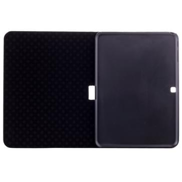 Crocodile Texture Leather Case with Holder for Galaxy Tab 4 10.1 / SM-T530(Black)