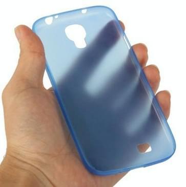 Samsung Galaxy S IV / i9500 0.3mm ultra dun Polycarbonate materiaal beschermende Shell Cover (blauw)