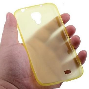 Samsung Galaxy S IV / i9500 0.3mm ultra dun Polycarbonate materiaal beschermende Shell Cover (geel)
