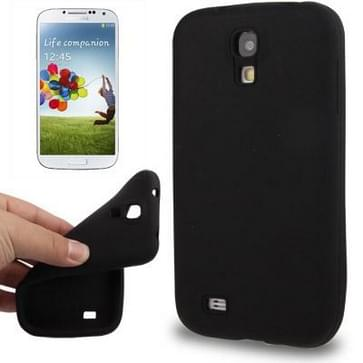 Pure Kleur Anti-kras siliconen hoesje voor Samsung Galaxy S IV / i9500(zwart)
