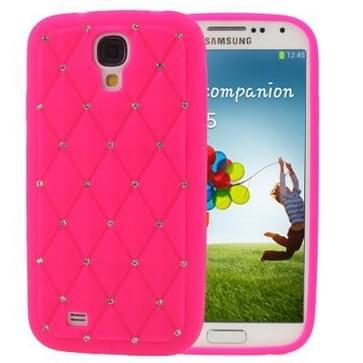 luxe blingbling diamanten siliconen hoesje voor samsung galaxy s iv / i9500 (hard roze)