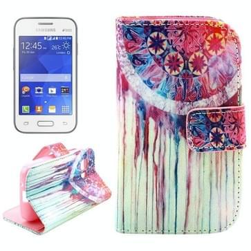 Samsung Galaxy Young 2 / G130 horizontaal Kleurrijk dromenvanger patroon PU leren Flip Hoesje met houder en opbergruimte voor pinpassen