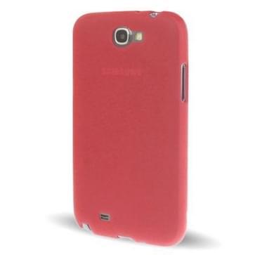 Samsung Galaxy Note II / N7100 doorschijnend TPU hoesje (rood)