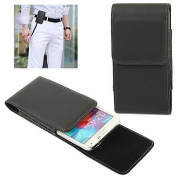 Vertical Flip lederen hoesje met riemclip voor Samsung Galaxy S5 / G900(zwart)