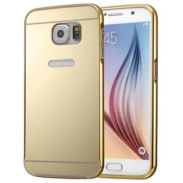 Modieuze galvaniseren PC Push Pull Shell backcover + metalen Frame Bumper voor Samsung Galaxy S7 / G930(Gold)
