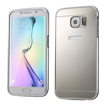 Push-pull stijl metaal Plating Bumper Frame + acryl backcover combinatie hoesje voor Samsung Galaxy S6 edge + / G928(zilver)