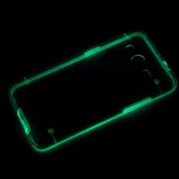 lichtgevend Frame Transparant Back Shell Plastic hoesje voor Samsung Galaxy Core 2 / G355H(groen)