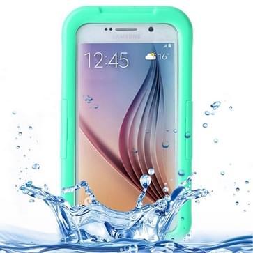 Samsung Galaxy S6 / S6 Edge schokbestendig IPX8 waterdicht PVC Hoesje met aanraakgevoelig front (groen)