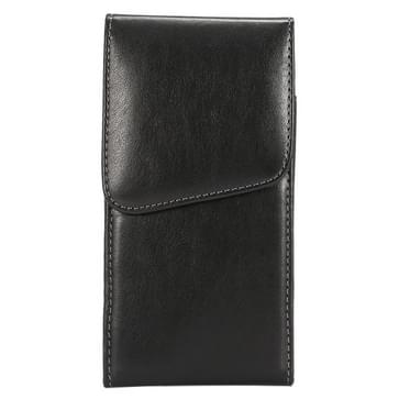 6.3 Inch universeel Lambskin structuur Vertical Flip lederen hoesje / Waist Bag met Rotatable Back Splint voor Samsung Galaxy Mega 6.3 / i9200 / i9205 / I9208 &  Mega 2 / G750 / G750F / G7502
