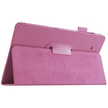 Samsung Galaxy Tab E 9.6 / T560 horizontaal Litchi structuur PU leren Flip Hoesje met houder (roze)