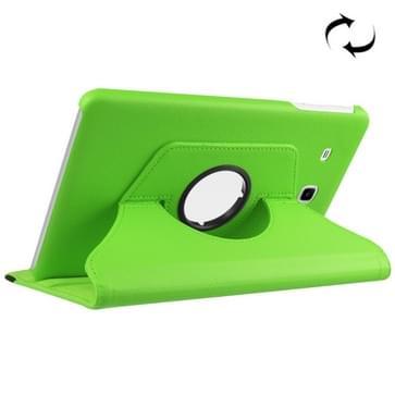 Samsung Galaxy Tab E 9.6 / T560 horizontaal Litchi structuur PU leren Flip Hoesje met 360 graden draaiende houder (groen)