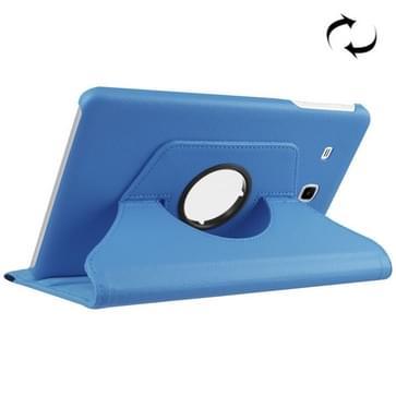 Samsung Galaxy Tab E 9.6 / T560 horizontaal Litchi structuur PU leren Flip Hoesje met 360 graden draaiende houder (blauw)