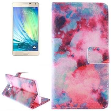 Samsung Galaxy A5 / A500 horizontaal dubbelzijdig Nebula patroon PU leren Flip Hoesje met houder en opbergruimte voor pinpassen & geld