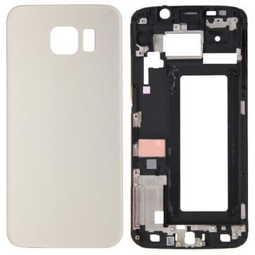 Full housing Cover vervanging (Front behuizing LCD Frame Bezel plaat + batterij backcover vervanging) voor de Galaxy S6 Edge / G925(Gold)