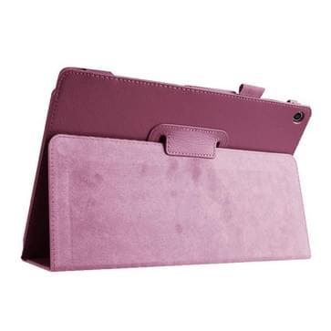 Asus ZenPad 10 / Z300C horizontaal Litchi structuur PU leren Flip Hoesje met houder (paars)