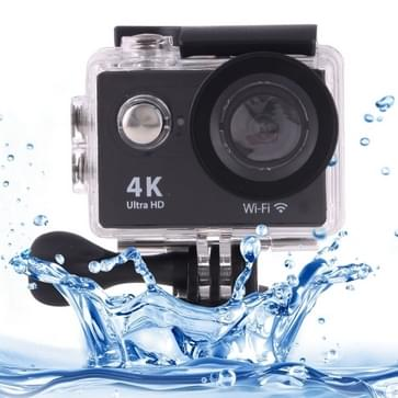 H9 4K Ultra HD1080P 12MP 2 inch LCD scherm WiFi actie camera, 170 graden groothoek lens, 30m waterdicht(zwart)