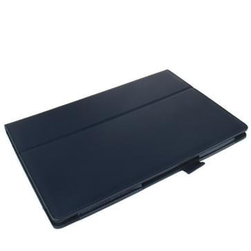 Litchi structuur lederen hoesje met houder voor Sony Xperia Tablet Z / 10.1(donker blauw)