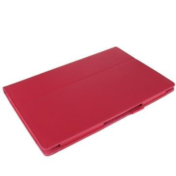 Litchi structuur lederen hoesje met houder voor Sony Xperia Tablet Z / 10.1(hard roze)