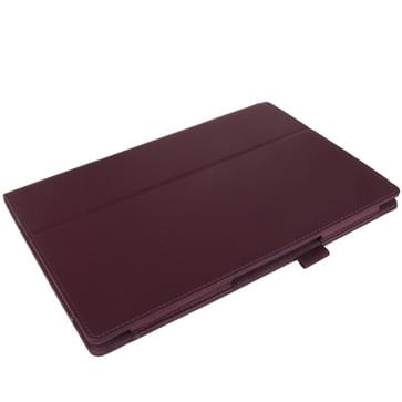 Litchi structuur lederen hoesje met houder voor Sony Xperia Tablet Z / 10.1(paars)