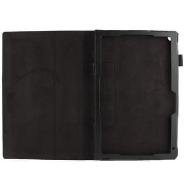 Sony Xperia Z2 10.1 Tablet horizontaal Litchi structuur PU leren Flip Hoesje met houder (zwart)