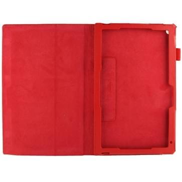 Sony Xperia Z2 10.1 Tablet horizontaal Litchi structuur PU leren Flip Hoesje met houder (rood)