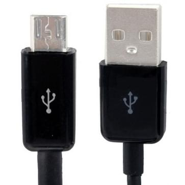 Micro USB-poort USB data kabel voor samsung galaxy s iv / i9500 / s iii / i9300 /note ii / n7100 / i9220 / i9100 / i9082, nokia, sony ericsson, lg, blackberry, htc, amazon kindle, lengte: 5 m (zwart)