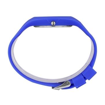 SKMEI 3695 beknopte Trendy 3ATM waterdichte Candy Color kwarts pols horloge met siliconen Band voor Students(Blue)