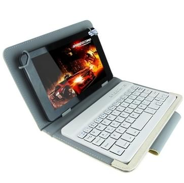 Universele Bluetooth toetsenbord met leder hoes & houder voor Ainol / PiPO / Ramos 9 7 inch/10.1 inch Tablet PC(White)