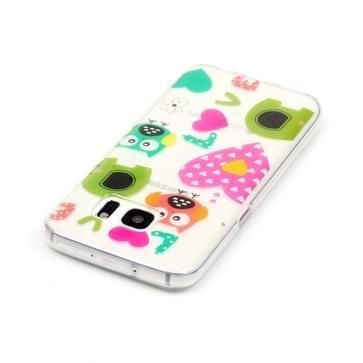 Samsung Galaxy S7 / G930 Glossy uilen LOVE patroon TPU back cover Hoesje