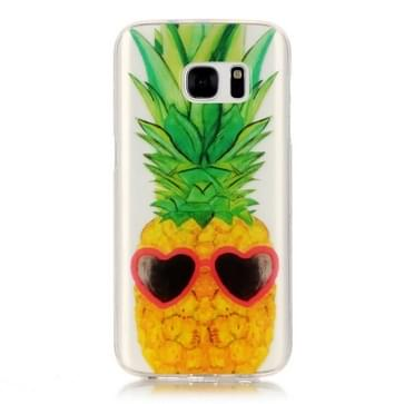 Samsung Galaxy S7 / G930 Glossy grappig ananas patroon TPU back cover Hoesje