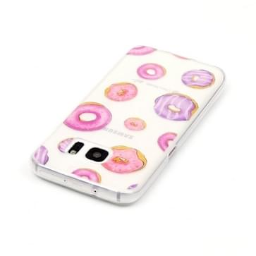 Samsung Galaxy S7 / G930 Glossy donuts patroon TPU back cover Hoesje