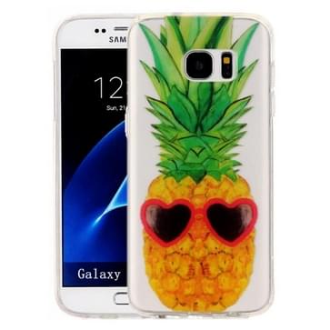 Samsung Galaxy S7 Edge / G935 Glossy grappig ananas patroon TPU back cover Hoesje