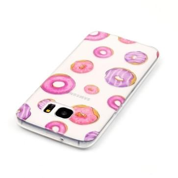 Samsung Galaxy S7 Edge / G935 Glossy grappig donuts patroon TPU back cover Hoesje
