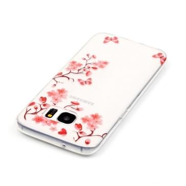 Samsung Galaxy S7 Edge / G935 Glossy bloesem patroon TPU back cover Hoesje