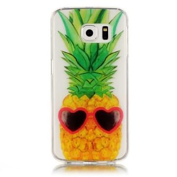 Samsung Galaxy S6 Edge / G925 Glossy grappig ananas patroon TPU back cover Hoesje