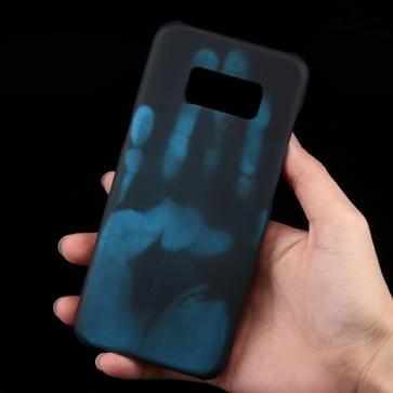 Samsung Galaxy S8 Thermisch aanraakgevoelig en kleurveranderend back cover Hoesje (blauw)