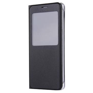 Voor Samsung Galaxy S7 / G930 Litchi structuur horizontaal flip lederen hoesje met Oproepweergave ID(zwart)